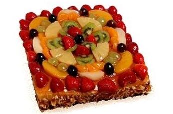 Vruchtentaart vierkant